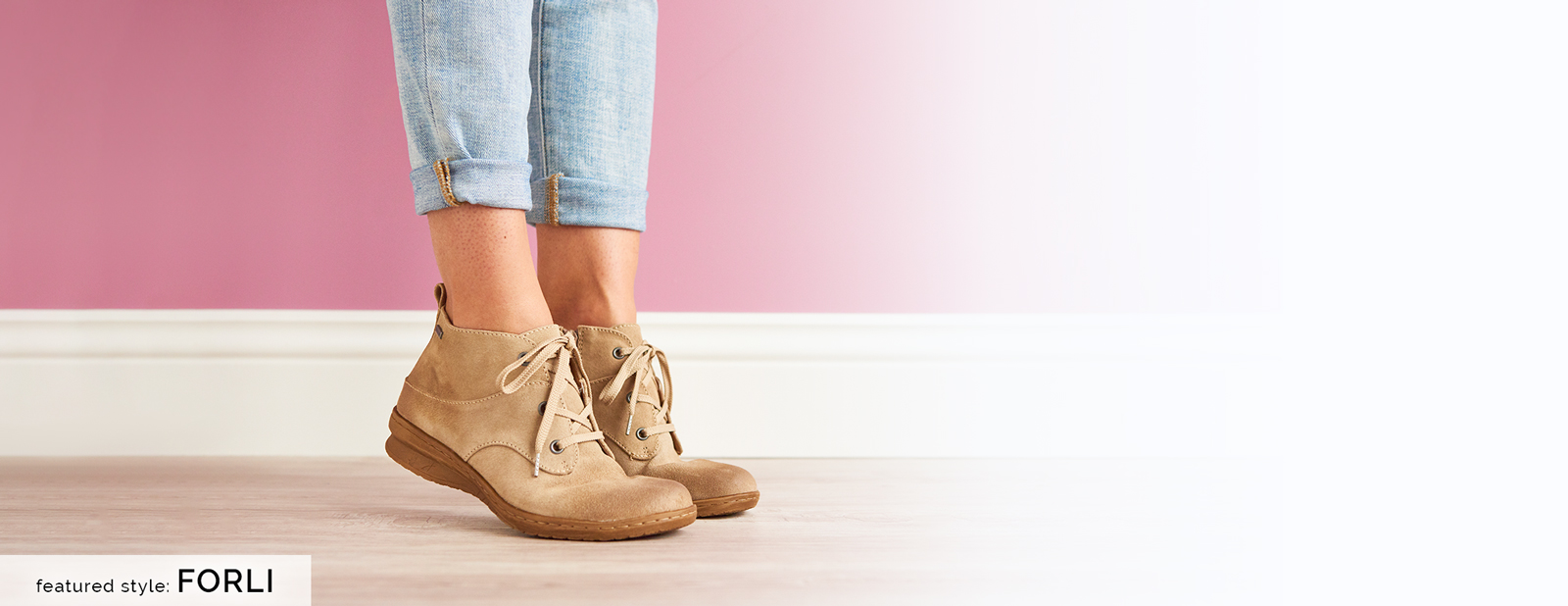 Featured style: Forli boot in cashmere suede (tan).